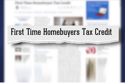 First Time Homebuyers tax credit