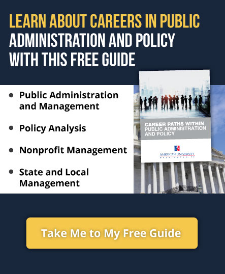 Learn about careers in Public Administration and Policy with this free guide.